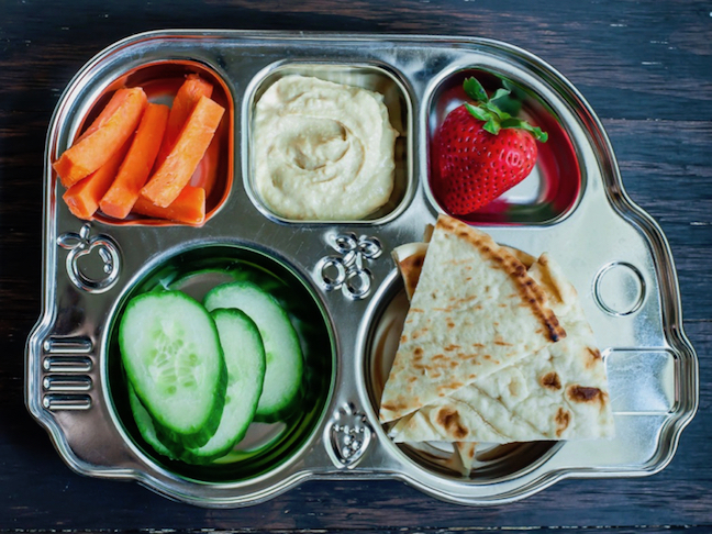 Hummus and Pita Bread Toddler Lunch