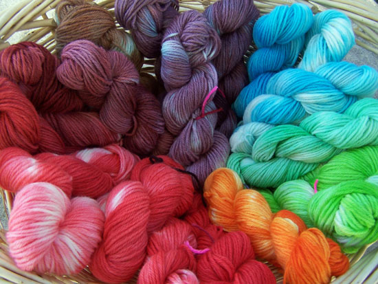 jelly crystals Dyed Yarn