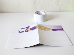 Duct Tape Notebook Craft - Step 1
