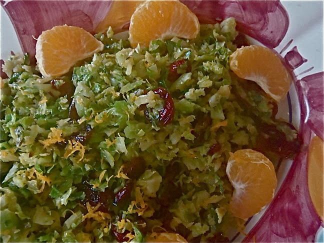 Brussel Sprout-Cranberry Slaw
