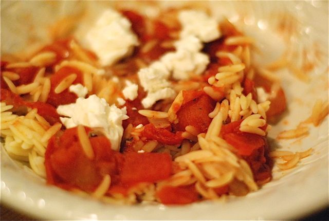 Chicken with Orzo and Feta